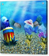 Tropical Vacation Under The Sea Acrylic Print