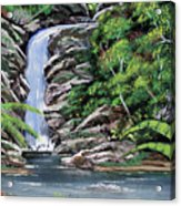 Tropical Waterfall 2 Acrylic Print