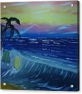 Tropical Wave Acrylic Print