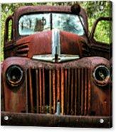 Truck In Medow Acrylic Print