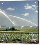 Truck Mounted Irrigation Acrylic Print