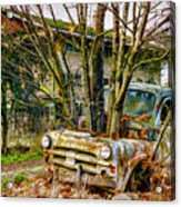 Truck N Tree Acrylic Print