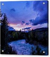 Truckee River Sunset Acrylic Print