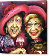 Trudy And Grace Play Dressup Acrylic Print