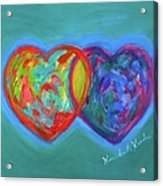 True Blue Hearts Acrylic Print