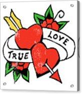 True Love Tattoo Acrylic Print