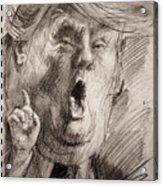 Trump A Dengerous A-hole Acrylic Print