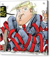 Trump Chaos Acrylic Print
