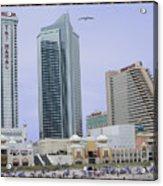 Trump Palace Tajmahal Hotel Atalantic Beaches And Board Walk America Photography By Navinjoshi At  Acrylic Print