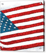 Trump Sweeps Under The Flag Rug Acrylic Print