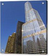 Trump Tower And Marina City Acrylic Print
