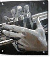 Trumpet Hands Acrylic Print