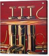 Trumpet In Red Acrylic Print