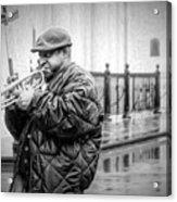 Trumpet In The Rain 2 - Nola Acrylic Print