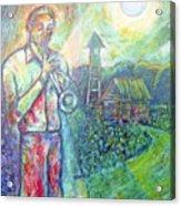 Trumpet Man Acrylic Print