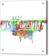 Trumpet Painted Digital Art Acrylic Print