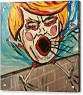 Trumpty Dumpty Falling Off His Imaginary Wall Acrylic Print