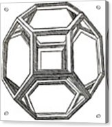 Truncated Octahedron With Open Faces Acrylic Print
