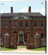 Tryon Palace Front With Gaurd Posts Acrylic Print