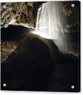 Tuckaleechee Cavern Waterfall Acrylic Print