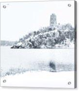 Tucker's Tower In Winter Acrylic Print