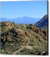 Tucson Mountain Ranges Acrylic Print