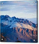 Tucson Mountains Snow Acrylic Print
