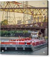 Tug Derek E And Barge On The Calumet River Acrylic Print