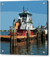 Tug Indian River At Port Canaveral In Florida Usa Acrylic Print