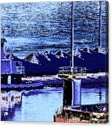 Tug Reflections Acrylic Print