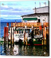 Tugboat At Rest Acrylic Print