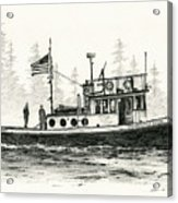 Tugboat Henrietta Foss Acrylic Print