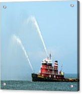 Tugboat's Welcome Salute Acrylic Print