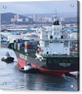 Tugs In Action Acrylic Print