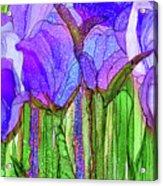 Tulip Bloomies 3 - Purple Acrylic Print