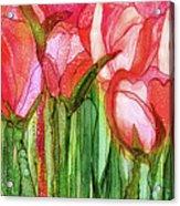 Tulip Bloomies 4 - Red Acrylic Print