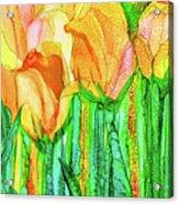 Tulip Bloomies 4 - Yellow Acrylic Print