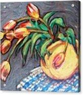 Tulip Fiesta Acrylic Print by Sheila Tajima