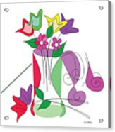 Tulip - Scribble Collection Acrylic Print