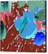 Tulipani Blu E Corallo Acrylic Print