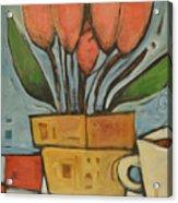 Tulips And Coffee Acrylic Print