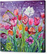 Tulips Are Magic In The Night Acrylic Print