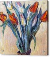 Tulips Acrylic Print by Claude Monet