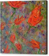 Tulips- Floral Art- Abstract Painting Acrylic Print