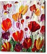Tulips Flowers Garden Seria Acrylic Print