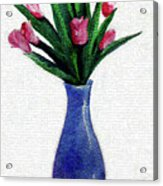 Tulips In A Tall Vase Acrylic Print