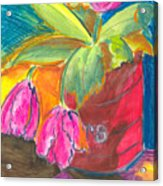 Tulips In Can Acrylic Print