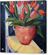Tulips On A Chair Acrylic Print