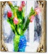 Tulips On A Half Shelf Acrylic Print