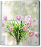 Tulips On The Window Acrylic Print
